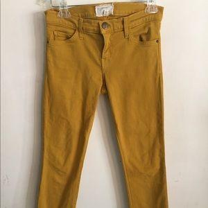Current Elliott mustard yellow skinny jeans sz 27